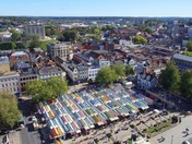 Bird's eye view of Norwich market
