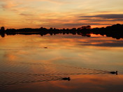 SUNSET AT FILBY BROAD