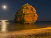 Ladram Rock by Night
