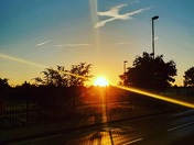 Amazing sunrise on my way to work