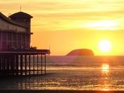 Steep Holm Sunset.