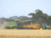 Things on wheels in the harvest field
