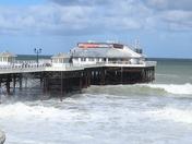 Cromer Pier in rough seas