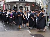 Petroc College Graduation Parade.