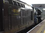 Steam train  at Worle