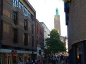 Norwich clock tower in prospective.
