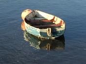 Lone boat on Exe Estuary