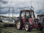 Tractors by the sea