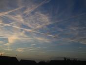 Busy early morning sky
