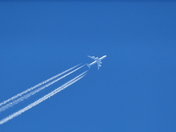HIGH UP. AIRCRAFT OFF TO WHO KNOWS WHERE