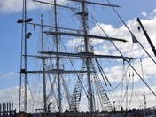 Sail Training Ship Lord Nelson in dry dock Lowestoft