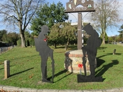 Soldiers on the Village Green in Stisted, Lest We Forget
