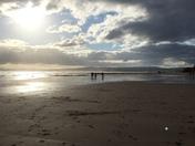 Sunday afternoon walk along Exmouth Beach