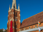 Poppy tribute at St John's, Felixstowe