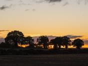 Autumn Sunset Cantley Norfolk