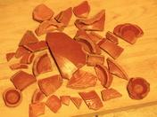 Samian ware roman pottery .