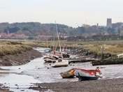 Waiting for the tide: boats at Morston