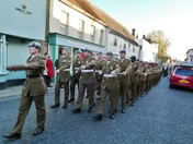Remembrance day in Hadleigh 11/11/2018