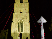 Carbrooke Church Tower Floodlit
