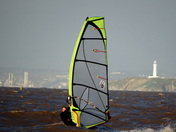 windsurfing at uphill