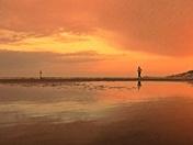 Knightstone and beach.