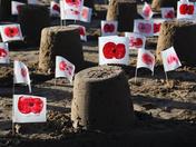 Remembrance sandcastles