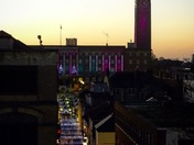 Norwich city centre at dusk