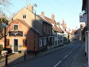 Bungay bathed in the late autumn sunshine
