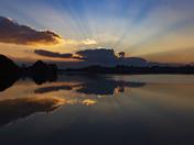 Dawn bursts over the Waveney Valley