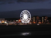 Weston Wheel at night