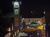 Harleston Christmas Lights switch on