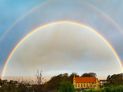 Rainbow over St Nicholas church, Portishead
