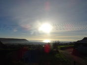 Looking towards Seaton in the morning sun