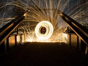 Steel wool bridge
