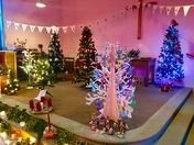 Christmas trees at the chapel