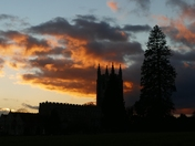 Holy Trinity Church,Long Melford at sunset.