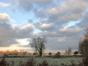 The beautiful view over looking Fen Farm towards Bungay this morning.