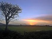 Sunrise on the Somerset Levels.