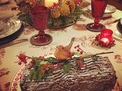 Homemade Christmas Chocolate Log