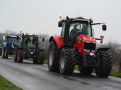 Boxing Day Angel Inn Larling  Charity Tractor Run