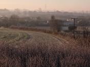 A misty Boxford Christmas morning