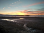 End of the year sunset over Brean Down