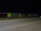 The beach huts on Queen's Drive, on a sand blown road 01.01.2019