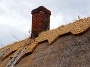New ridge on old Thatch at Flempton