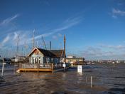Super-high tide, midday 08 January 2018, Suffolk coast
