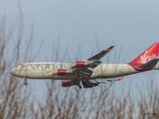Virgin 747 over Rackheath 15/1/19