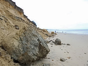 Pakefield cliffs south of Lowestoft ,erosion after the recent storm & high tide
