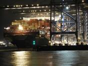Felixstowe docks at night