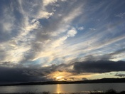 Dramatic skies across the Exe