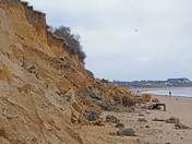 Pakefield cliffs nr Lowestoft Recent cliff erosion
